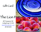 The Lion Potter gift card graphic